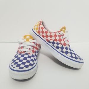 Vans Kids Tri Checkerboard Era Shoes Sz 1